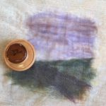 part way through the laying out and felting stage with the palm washboard tool